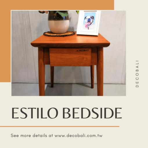 Estilo Bedside Table 1 Drawer