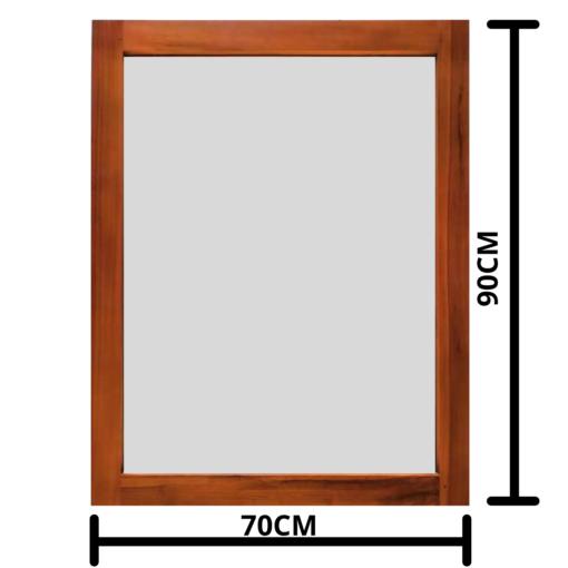 Teak mirror 70x90cm