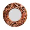 Teak Root Mirror Round